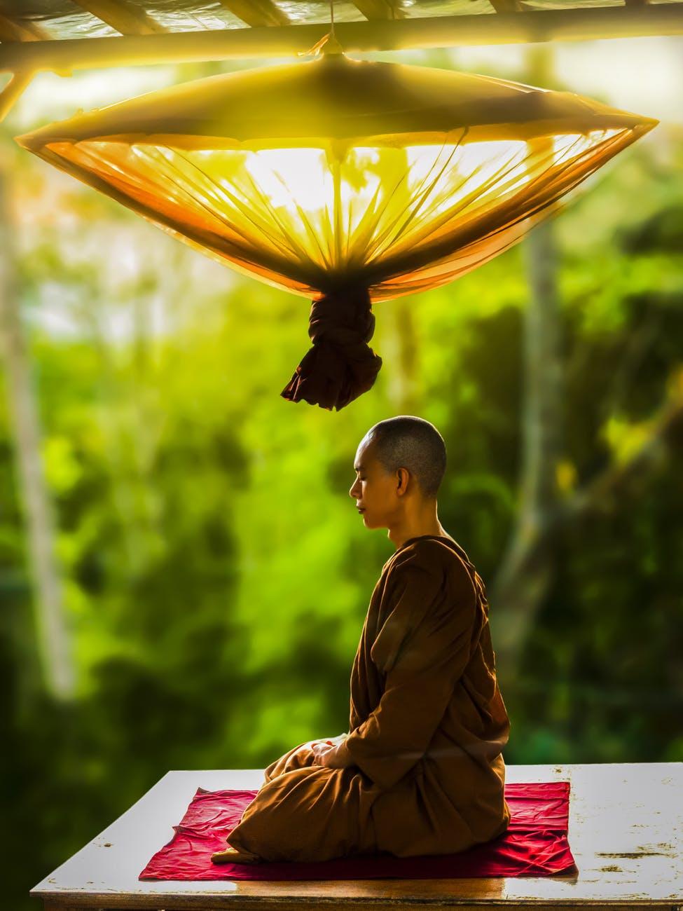 adult asian bald buddhism